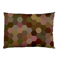 Brown Background Layout Polygon Pillow Case by Nexatart