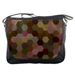 Brown Background Layout Polygon Messenger Bags