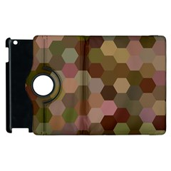 Brown Background Layout Polygon Apple Ipad 3/4 Flip 360 Case