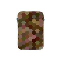 Brown Background Layout Polygon Apple Ipad Mini Protective Soft Cases by Nexatart