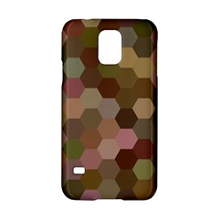 Brown Background Layout Polygon Samsung Galaxy S5 Hardshell Case  by Nexatart