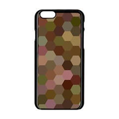 Brown Background Layout Polygon Apple Iphone 6/6s Black Enamel Case by Nexatart
