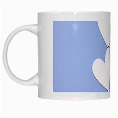 Clouds Sky Air Balloons Heart Blue White Mugs by Nexatart