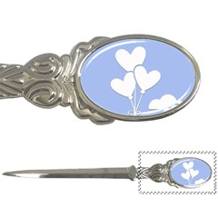 Clouds Sky Air Balloons Heart Blue Letter Openers