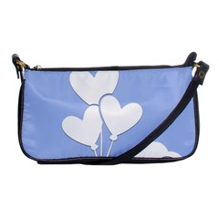 Clouds Sky Air Balloons Heart Blue Shoulder Clutch Bags by Nexatart