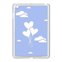 Clouds Sky Air Balloons Heart Blue Apple Ipad Mini Case (white) by Nexatart