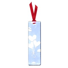 Clouds Sky Air Balloons Heart Blue Small Book Marks by Nexatart
