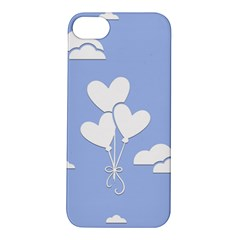 Clouds Sky Air Balloons Heart Blue Apple Iphone 5s/ Se Hardshell Case by Nexatart
