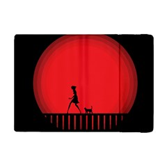 Girl Cat Scary Red Animal Pet Ipad Mini 2 Flip Cases by Nexatart