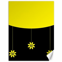 Flower Land Yellow Black Design Canvas 36  X 48   by Nexatart