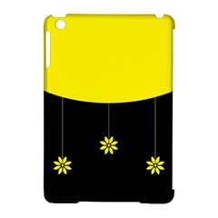 Flower Land Yellow Black Design Apple Ipad Mini Hardshell Case (compatible With Smart Cover) by Nexatart