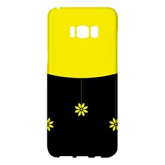 Flower Land Yellow Black Design Samsung Galaxy S8 Plus Hardshell Case  by Nexatart
