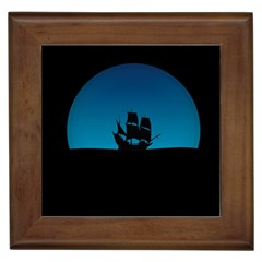Ship Night Sailing Water Sea Sky Framed Tiles