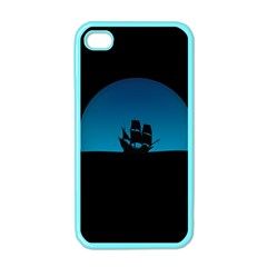 Ship Night Sailing Water Sea Sky Apple Iphone 4 Case (color) by Nexatart