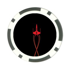 Ship Space Spaceship Poker Chip Card Guard (10 Pack)