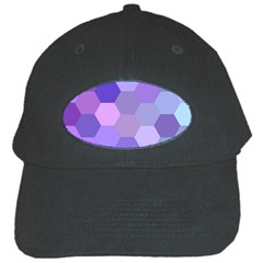 Purple Hexagon Background Cell Black Cap by Nexatart