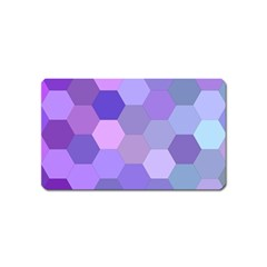 Purple Hexagon Background Cell Magnet (name Card) by Nexatart