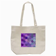 Purple Hexagon Background Cell Tote Bag (cream) by Nexatart