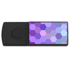 Purple Hexagon Background Cell Rectangular Usb Flash Drive by Nexatart