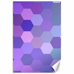 Purple Hexagon Background Cell Canvas 24  X 36  by Nexatart