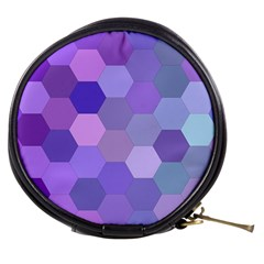 Purple Hexagon Background Cell Mini Makeup Bags by Nexatart