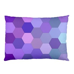 Purple Hexagon Background Cell Pillow Case (two Sides)