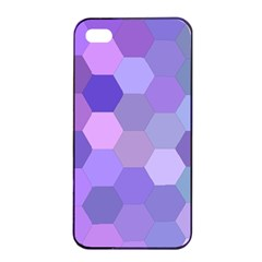 Purple Hexagon Background Cell Apple Iphone 4/4s Seamless Case (black)