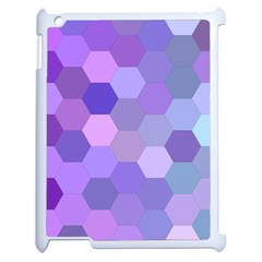 Purple Hexagon Background Cell Apple Ipad 2 Case (white) by Nexatart