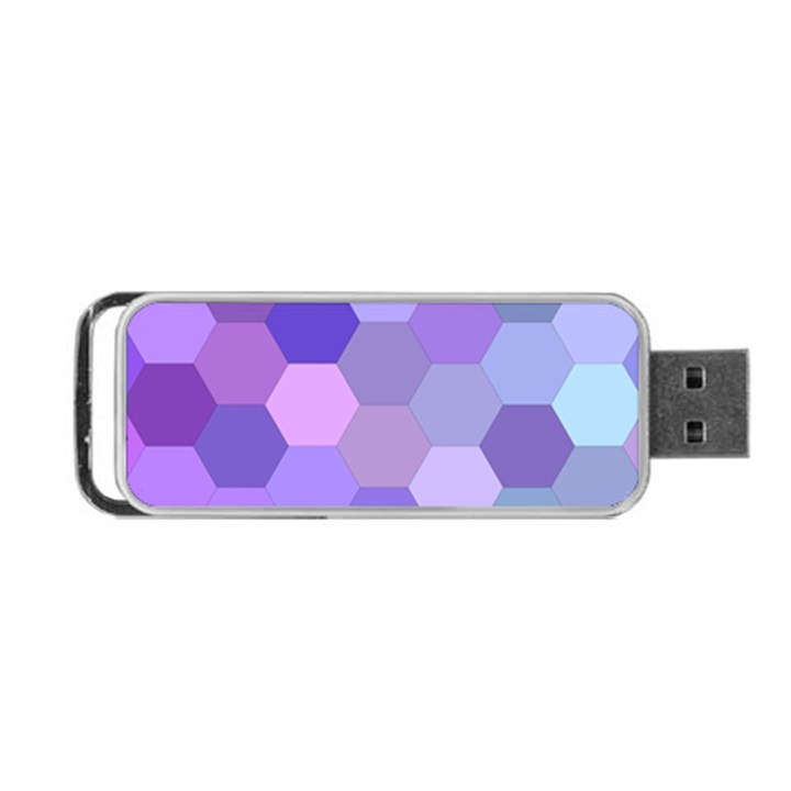 Purple Hexagon Background Cell Portable USB Flash (One Side)
