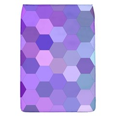 Purple Hexagon Background Cell Flap Covers (l)