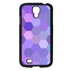 Purple Hexagon Background Cell Samsung Galaxy S4 I9500/ I9505 Case (black)