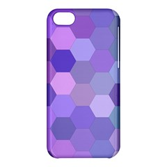 Purple Hexagon Background Cell Apple Iphone 5c Hardshell Case
