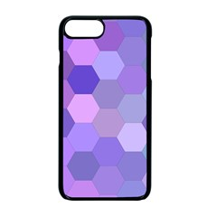 Purple Hexagon Background Cell Apple Iphone 7 Plus Seamless Case (black) by Nexatart
