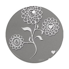 Flower Heart Plant Symbol Love Ornament (Round)