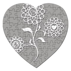 Flower Heart Plant Symbol Love Jigsaw Puzzle (Heart)