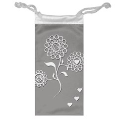 Flower Heart Plant Symbol Love Jewelry Bag