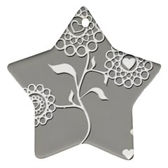 Flower Heart Plant Symbol Love Star Ornament (Two Sides)