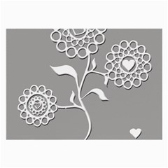 Flower Heart Plant Symbol Love Large Glasses Cloth