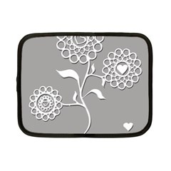 Flower Heart Plant Symbol Love Netbook Case (Small)