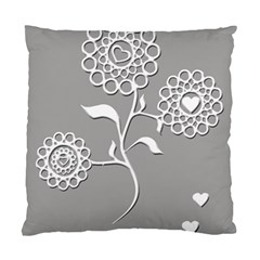 Flower Heart Plant Symbol Love Standard Cushion Case (One Side)