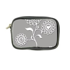 Flower Heart Plant Symbol Love Coin Purse