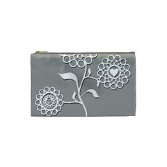 Flower Heart Plant Symbol Love Cosmetic Bag (Small)