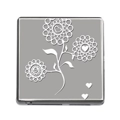 Flower Heart Plant Symbol Love Memory Card Reader (Square)