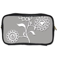 Flower Heart Plant Symbol Love Toiletries Bags