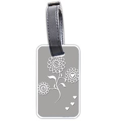 Flower Heart Plant Symbol Love Luggage Tags (One Side)