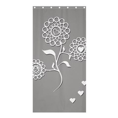 Flower Heart Plant Symbol Love Shower Curtain 36  X 72  (stall)