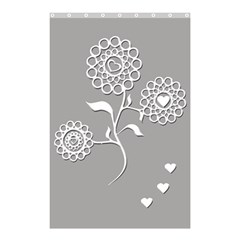 Flower Heart Plant Symbol Love Shower Curtain 48  X 72  (small)  by Nexatart