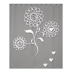 Flower Heart Plant Symbol Love Shower Curtain 60  X 72  (medium)  by Nexatart