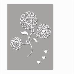 Flower Heart Plant Symbol Love Small Garden Flag (Two Sides)