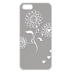 Flower Heart Plant Symbol Love Apple iPhone 5 Seamless Case (White)